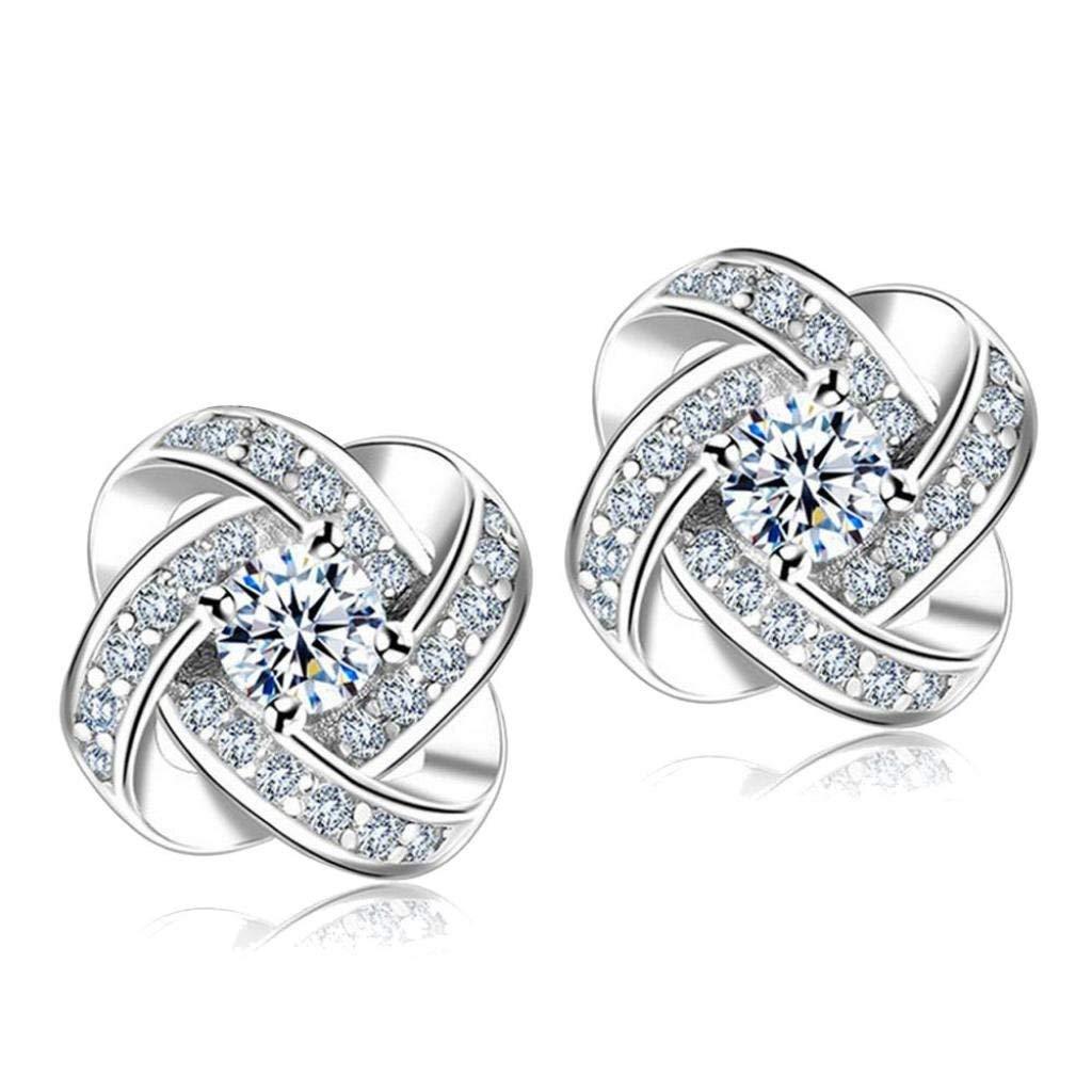 Clearance Deal! Hot Sale! Earring, Fitfulvan 2018 Simple Fashion Diamond Eternal Star Earrings Stud Earrings Women Jewelry (Sliver)