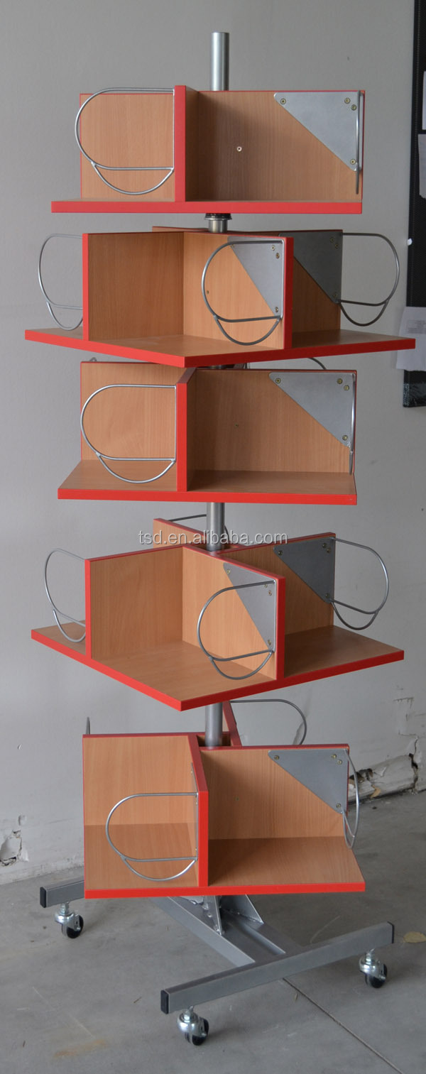 Tsd M405 Retail Shop Best Sale Rotating Book Display Rack