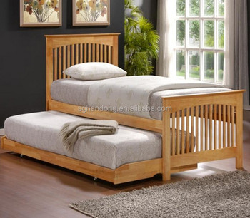 High Quality Solid Wood Single Bed With