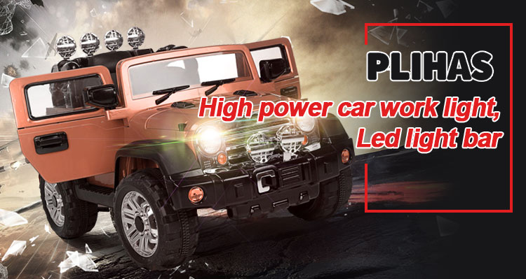 Wholesale 5 lamp beads 15W 1300lm Auto Led Headlight high low beam square Led Work Lamp truck off-road spotlight
