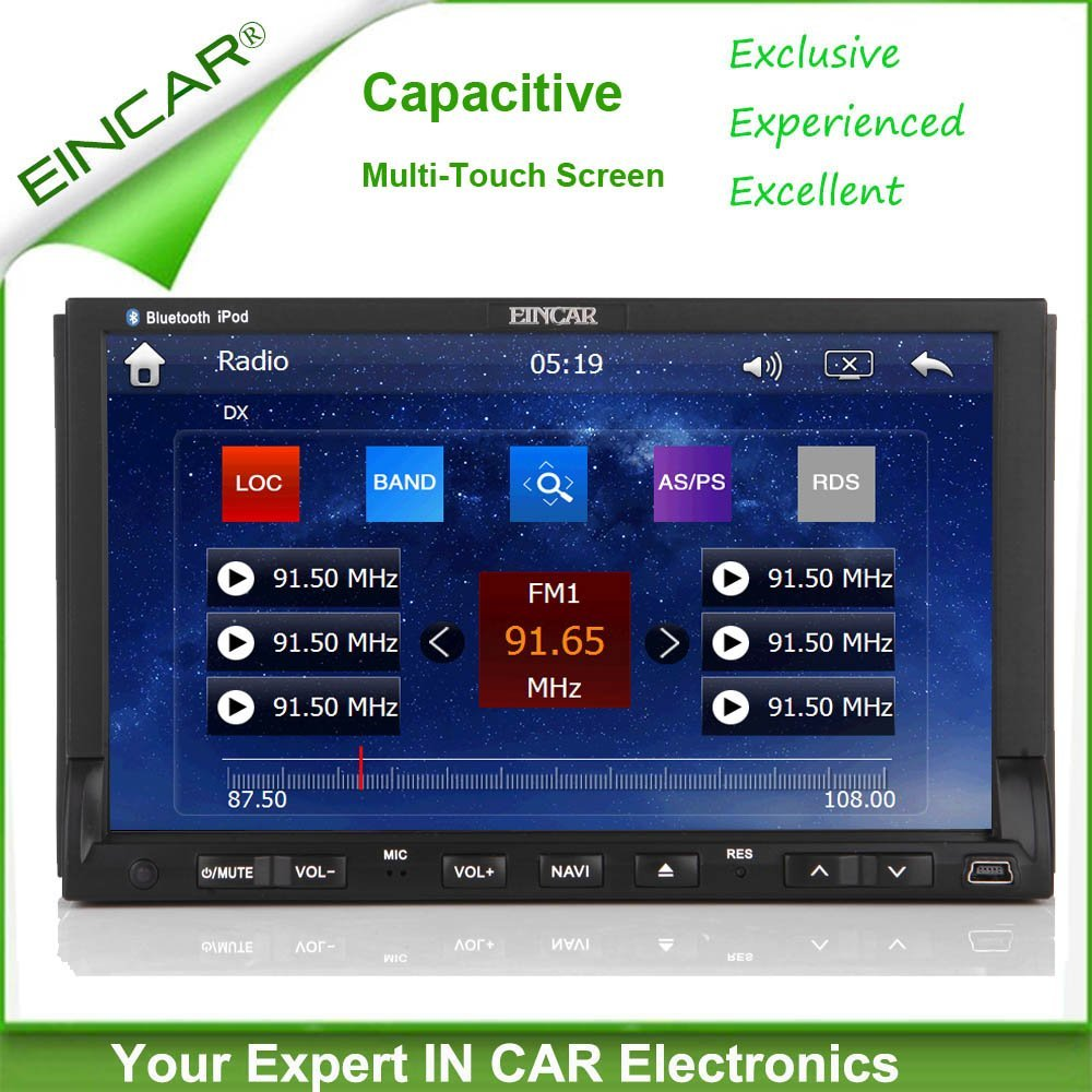 Buy Car Multimedia Radio Gps Navigation Stereo For Honda Accord 2003 Head Unit Eincar 7 Inch Capacitive Touchscreen Dvd Player In Dash Double Din Steering Wheel Control Ipod Bluetooth