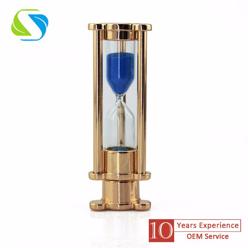 2016 manufacture promotional custom logo full printed metal hourglass usb flash logo