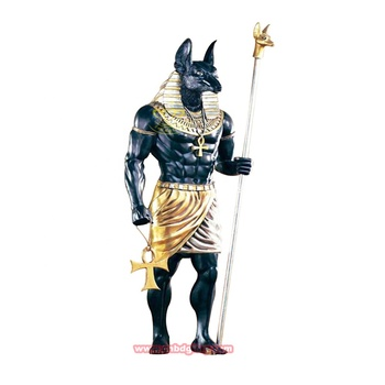 Garden Home Ornaments Fiberglass Egyptian God Anubis Statue