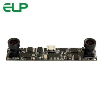 Elp 720p Cmos Ov9712 Sensor Mjpeg Yuy2 Dual Lens Stereo Usb Camera Module  With Uvc For Robot Vision - Buy Stereo Camera Module Usb,Stereo Camera