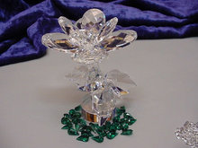 Graceful crystal flower, crystal decoration with all over the china