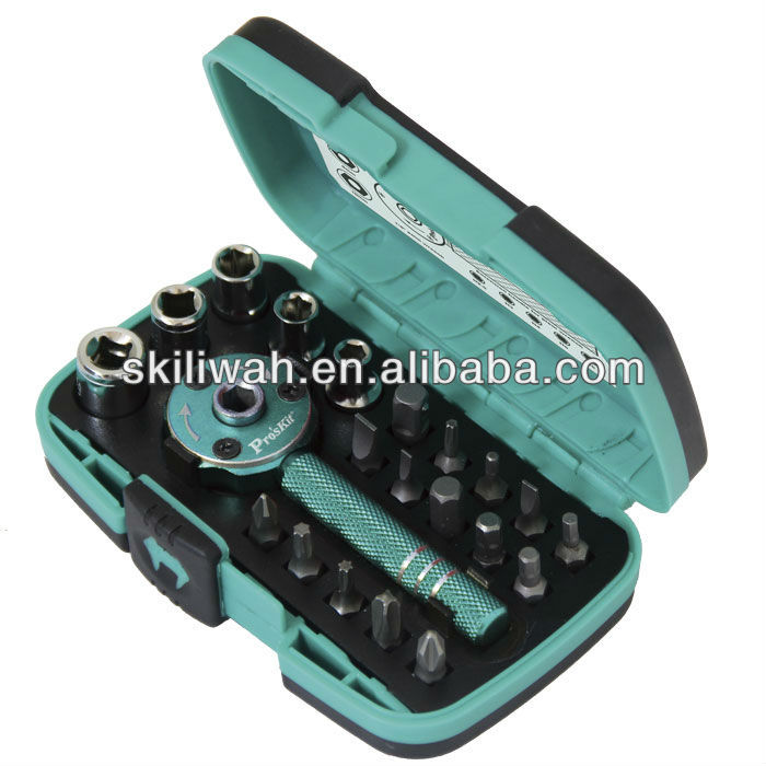 Brand New SD-2319M 22 PCS Palm ratchet wrench Bit & Socket Set