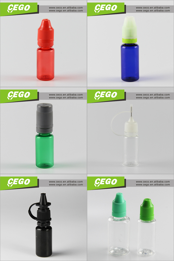 wholesale and hottest selling 10ml 15ml 30ml plastic dropper bottle e liquid bottle with multi-colors cap