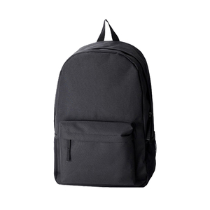 Promotion black unisex classic back pack 34l nylon teen school backpack  plain black backpacks a53319a6068ee