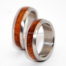 China Biggest Manufacturer Wood Inlay Love Couple Rings