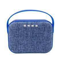 mesh cover cloth grill/grille fabric wireless speaker with handle