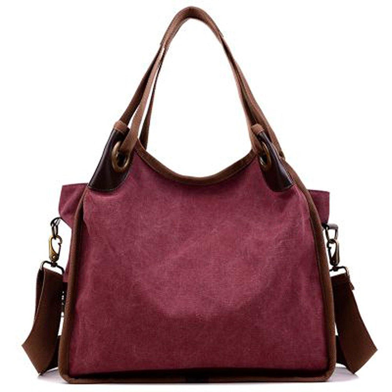 37ab0020712e LWK Women Handbags Hobo Canvas Shoulder Tote Bags Shopper Handbags Large  Fashion Handbags for Womens 316