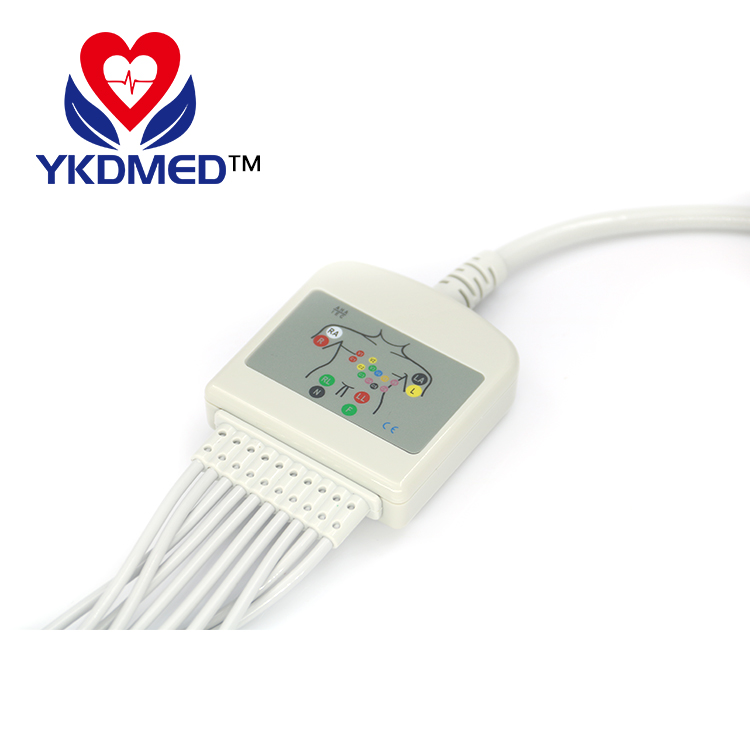 Compatible Burdick ECG one-piece series EKG cable with 10 leadwires , EKG patient cable AHA,Banana 4.0