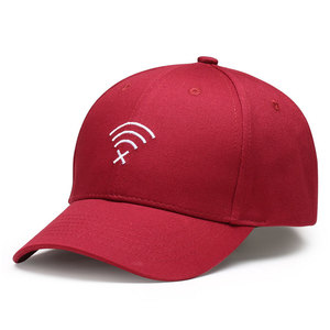 Promotional personalized black red design your own short peaked baseball cap hats free sample