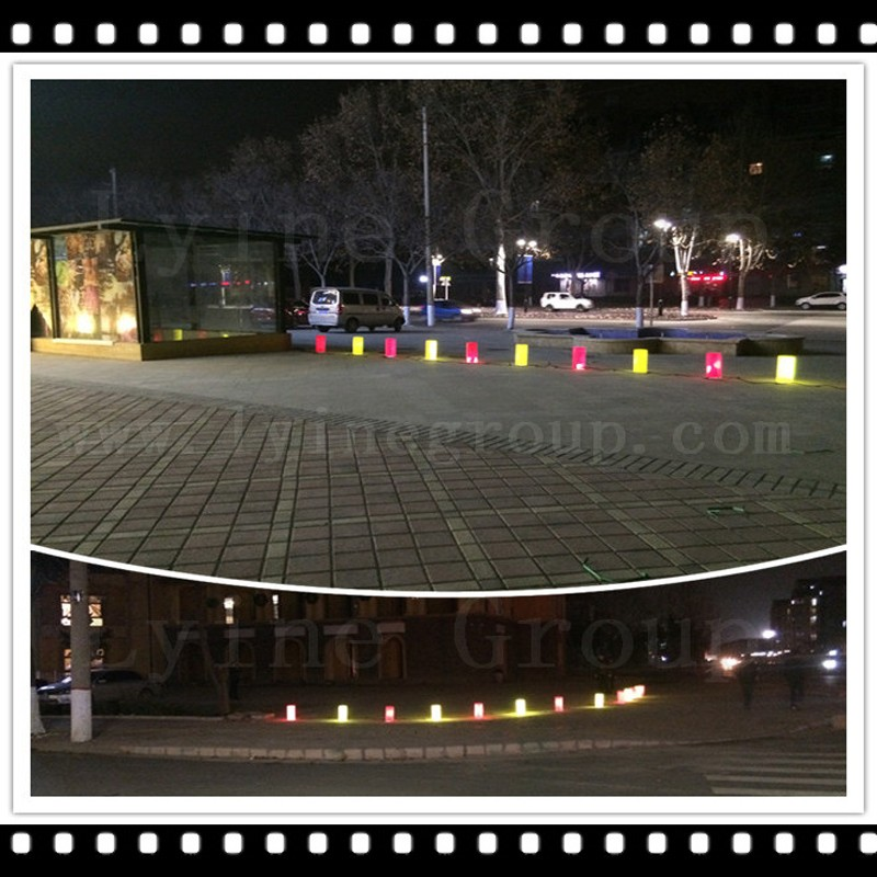 plastic road warning post plastic bollard solutions reflective inflatable plastic traffic road divider