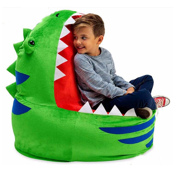 Crocodile Mouth Shape Plush Bean Bag Kids Sofa Chair