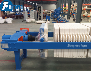 Waste water treatment chamber type PP plate filter press for sale,popular export recessed press filter with pp plates