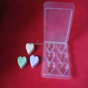6 holes clear PVC wax melts clamshell box
