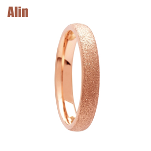 Thin rose gold brushed tungsten ring jewelries wholesaler