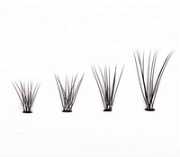 Wholesale heat bonded glue free 3d Russian volume lashes short stem lashes