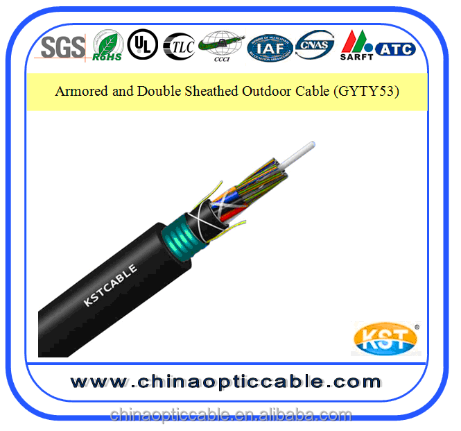Gyty53 24 Core Outdoor Armored Directly Buried Fiber Opitc Cable
