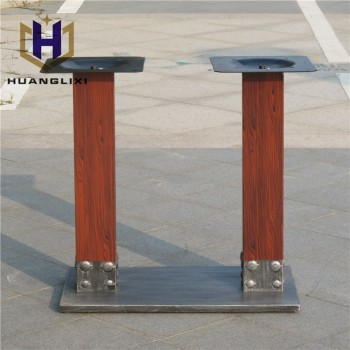 Lovely Unique Square Metal Dining Table Leg,furniture Feet,wrought Iron Table Bases  For Sale