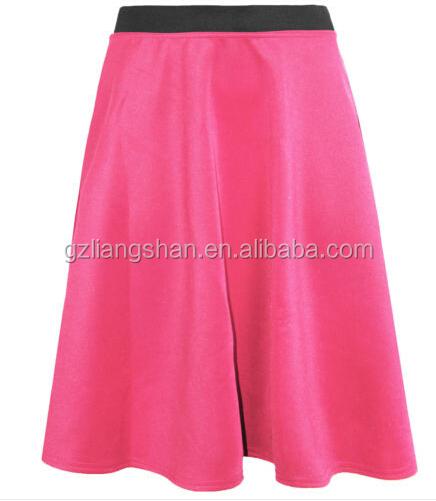 OEM High Quality Ladies Women Flared Knee Length Skater Skirt Ladies  Stretch Midi Office Work Skirt 6e8bfaed6