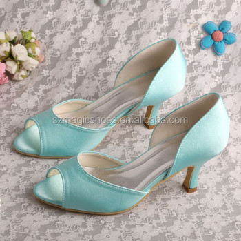 Mint Green Peep Toe Shoes And Bags To Match - Buy Mint Green Shoes ...