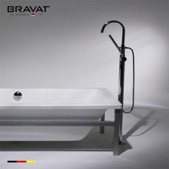 Stylish Long Spout Floor Stand Bathtub Faucet Lead Tolerance F65051C B3