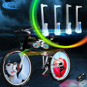 Wholesale bike light DIY programmable 416 led lamps lighting for adult bicycle wheel light