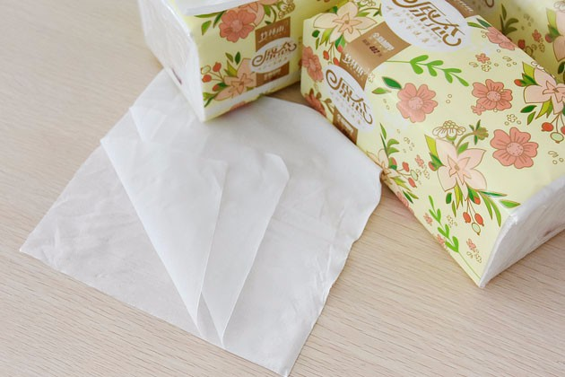 3ply ultra soft primary wod pulp facial tissue paper 180*180mm