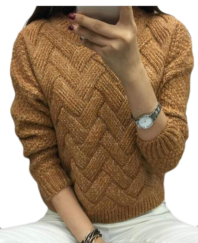 WSPLYSPJY Women's Sexy Elegant Plus Size Cotton Knit Sweater Black OS