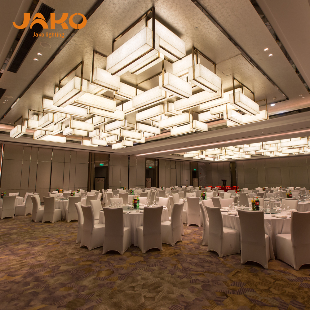 Luxury Hotel Banquet Hall Ballroom Lighting Modern Gl Chandelier Contemporary Art Ceiling Lightings