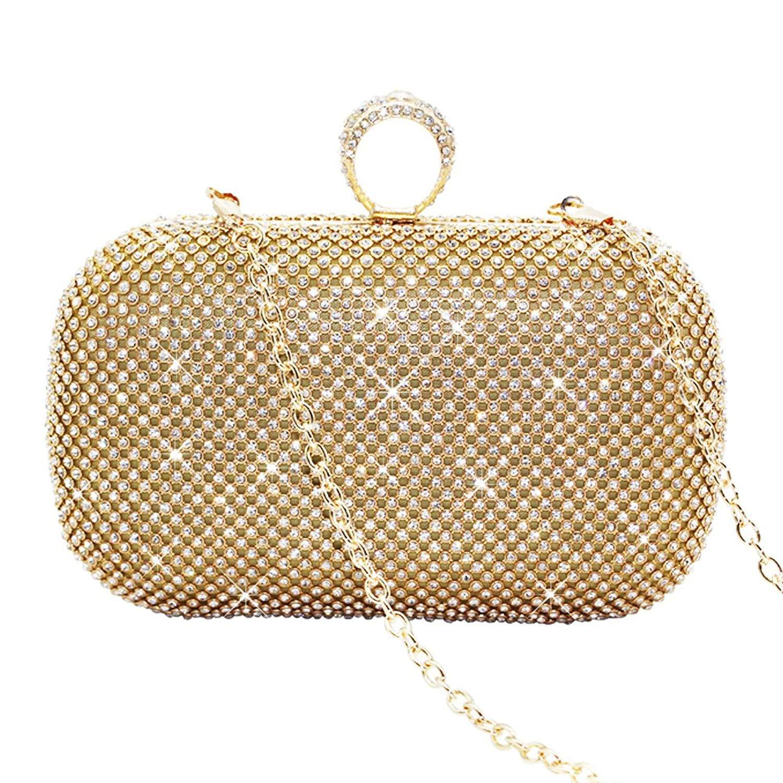 d892884db9 Get Quotations · Wocharm Fashion Ladies Women Glitter Satin Box Ladies  Clutch Bag Bridal Bag Evening Party Handbag