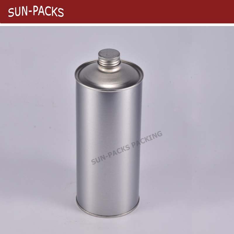 250ml/500ml/1L Round Engine oil paint metal can Screw top lid tin can