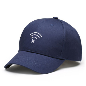 12034989431 Novelty tech blue cotton baseball running hat office visor cap