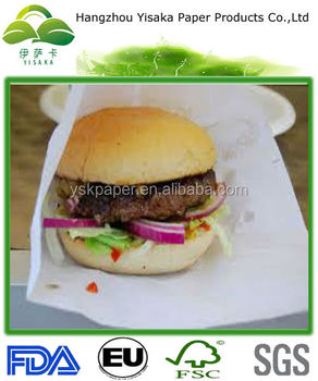 Factory Directed Exported Hamburger Wrap Paper