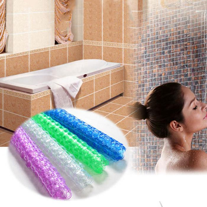 Extra Long Bath Tub Mat Shower Safety PVC Bathroom Anti-skid Bathtub Relax Pad