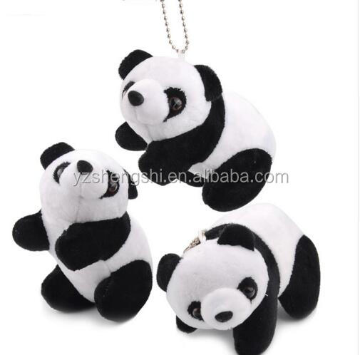 free sample promotional gift custom animal plush keychain panda toy/ stuffed panda keychain for decoration