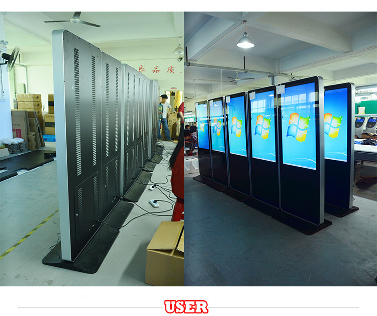 46'' Indoor Touch Screen Digital Signage Ads Display Lcd All In ...