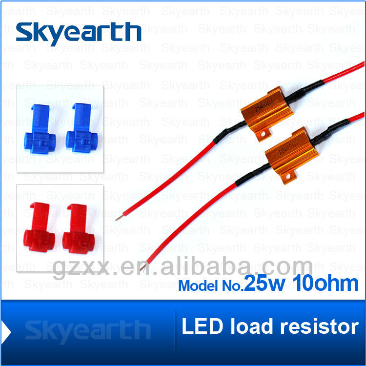 resistor colour code LED load resistor for turn signal light error free 25w 10ohm