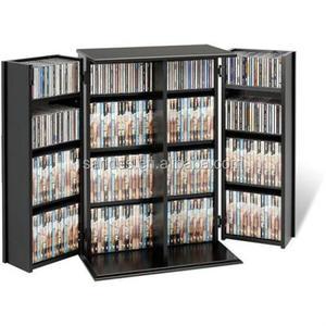 Acrylic Plastic Black Cd Cabinet