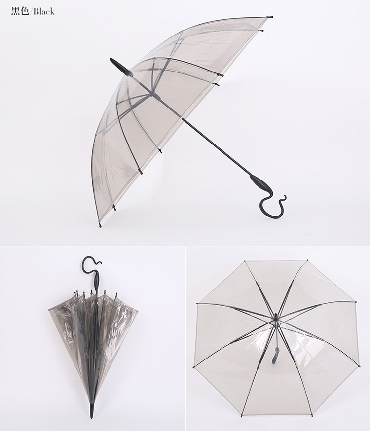 wholesale cheap poe disposable transparent clear umbrella