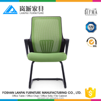 2017 plastic back chair of powder coated base side mesh chairs reception furniture