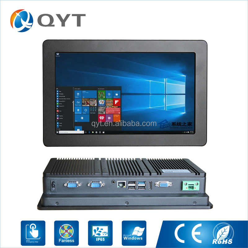 "hot sale 11.6"" 2*RS232 embeded ip65 panel mount touch screen panel pc"