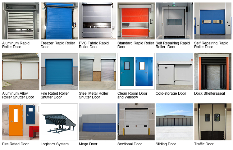 industrial good quality steel overhead electric sliding up thermal insulated loading bay sectional dock doors for cold room