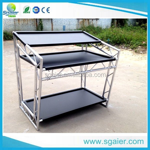Cheap price aluminum portable dj booth on sale mobile dj for Cheap trusses for sale