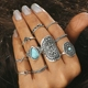 Fashion totem carve ring for women boho 10PCS jewelry sets Wholesale G80660