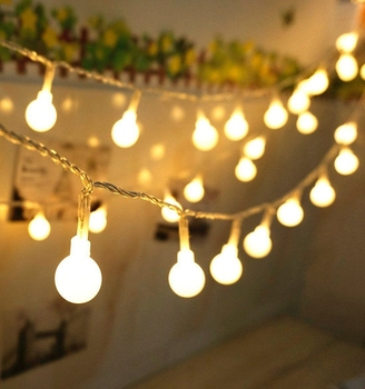 Outdoor Garland Warm White Waterproof  Battery Operated Christmas Tree Decorative Fairy Light Mini LED Globe Ball String Light