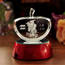 engraved crystal angel apple gifts MH-TF0229