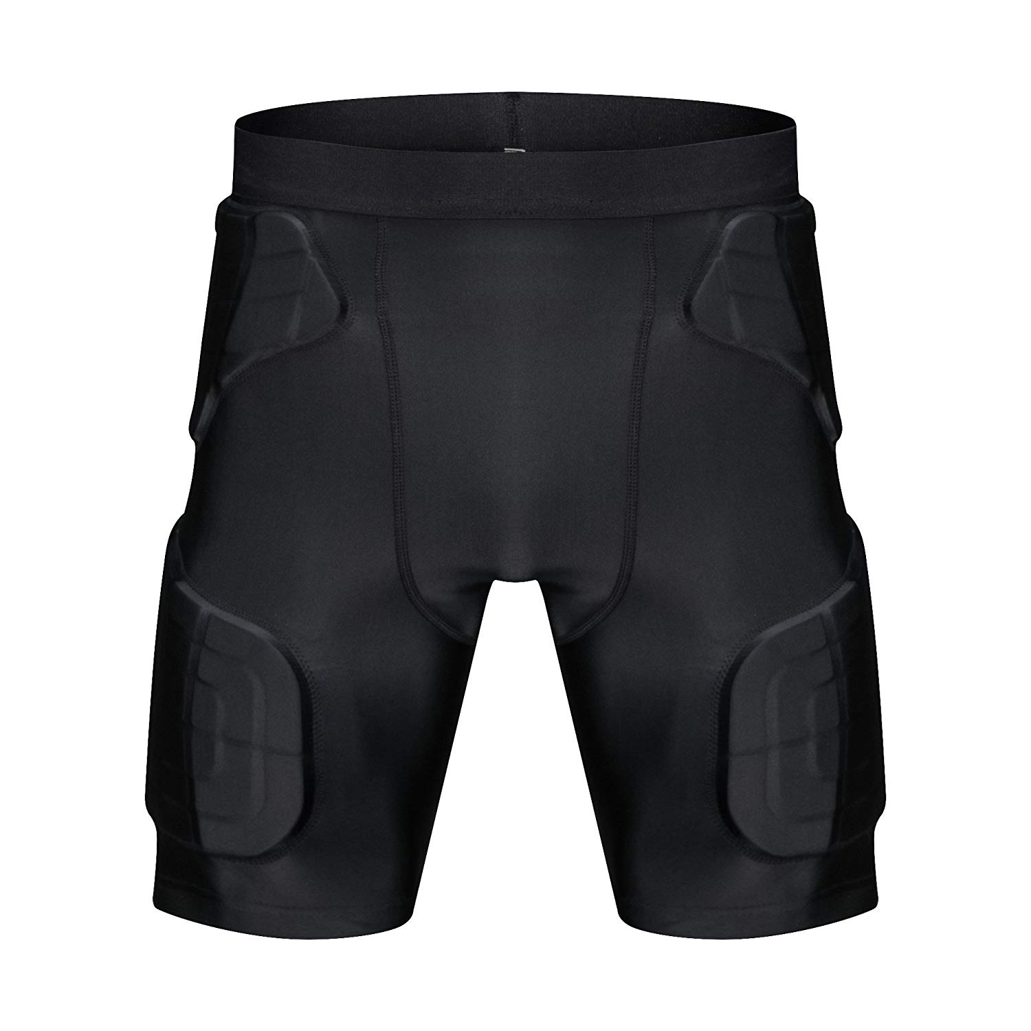 714baa1d40 Get Quotations · TUOY Men s Padded Compression Shorts 5-Pad Football Girdle  Hip Thigh Protector